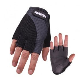 Havik 531 Meshfull Half Finger Gloves Sponge Pads Gray Black