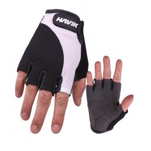 Havik 532 Meshfull Half Finger Gloves Sponge Pads White Black