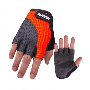 Havik 534 Meshfull Half Finger Gloves Sponge Pads Orange Gray