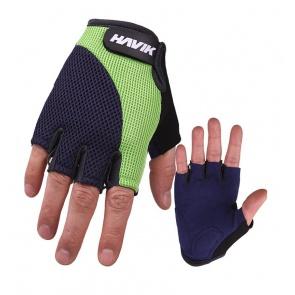 Havik 536 Meshfull Half Finger Gloves Sponge Pads Green Navy