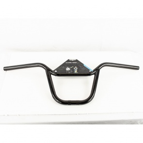 "CURB DOG DROP TOP 8"" RISE CRMO BLACK BMX HANDLEBAR"
