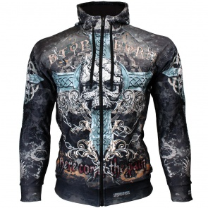 Btoperform Skull Cross Full Graphic Hoodies HD-06