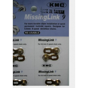KMC Missinglink 9s 9 Speed Bicycle Chain link