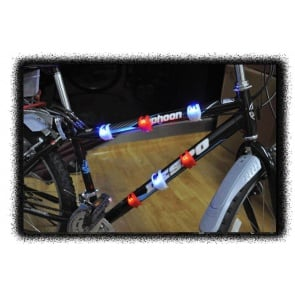 BICYCLE FIETS LAMP SILICON SET 2 LIGHTS BLUE REAR