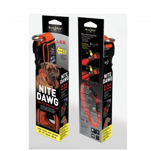 NITE IZE NITE DAWG COLLAR ORANGE LARGE 18-27""