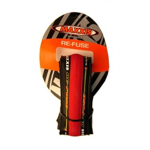 Maxxis ReFuse Road Training Bicycle Tire 700x23c Red
