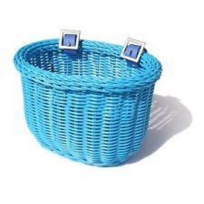 Colorbasket Cord Jr Strap-on Bike Basket Blue