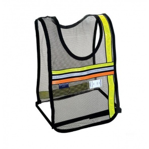Nathan Tri-Color Vest Black Mesh