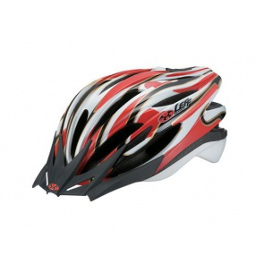 OGK Leff Cycling Helmet Super Light White red