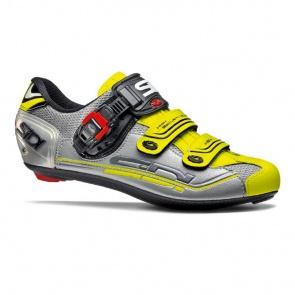 Sidi Genius 7 Road Bike Cycling Shoes Steel Silver Yellow
