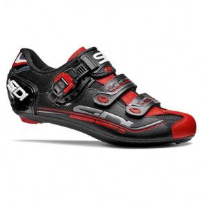 Sidi Genius 7 Road Bike Cycling Shoes Black Black Red