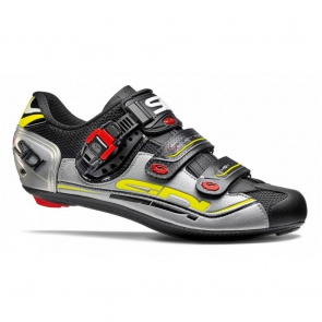 Sidi Genius 7 Road Bike Cycling Shoes Black Silver Yellow