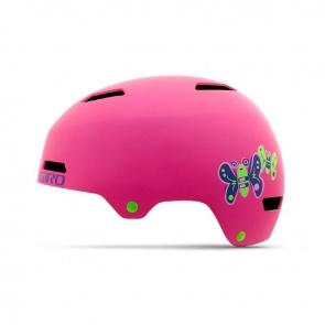 Giro Dime Kids Helmet Matte Bright Pink Butterflies
