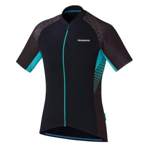 Shimano Escape Womens Jersey Short Sleeves Black Viridiangreen 2017