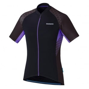 Shimano Escape Womens Jersey Short Sleeves Black Violet 2017