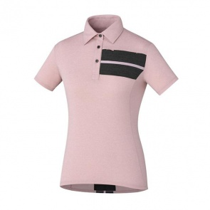 Shimano Transit Polo Womens Jersey Short Sleeves Soft Pink