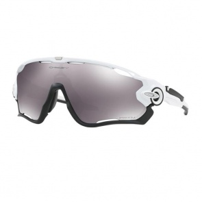 Oakley Jawbreaker Polished White-Prizm Sunglasses Black