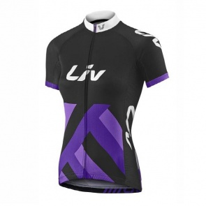 Giant Liv Race Day  Women Short Sleeve Jersey Black/Purple
