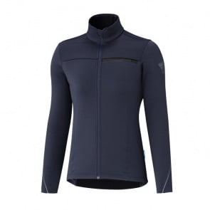 Shimano Thermal Long Sleeve Women's Winter Jersey Navy