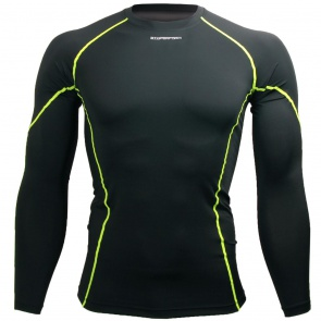 Btoperform Basic BaseLayer Compression MMA Sport Jersey Green Line
