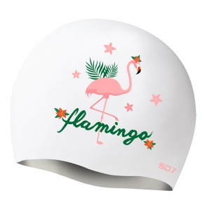 SD Flamingo Silicon Swimming Cap