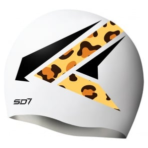 SD Eagle White Silicon Swimming Cap