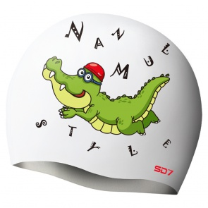 SD Crocodile Silicon Swimming Cap
