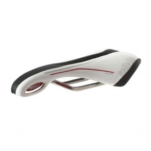 Selle Italia Flite XC Gel Flow Bicycle Seat Titan Rail white