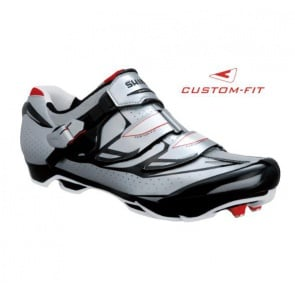 Shimano SH-M315E Bicycle Shoes Wide Silver Black Red