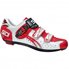 Sidi Genius5 Fit Road Bike Cycling Shoes White Red