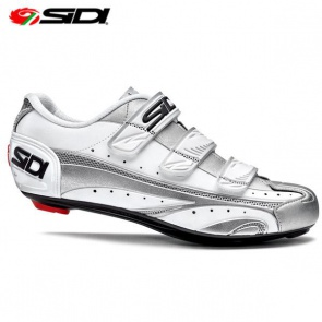 Sidi APO Road BIke Shoes Silver White