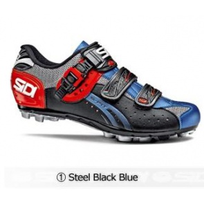 Sidi Eagle5 Fit MTB cycling shoes Steel Black Blue