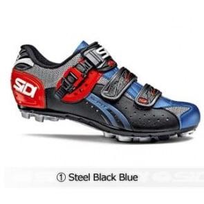 Sidi Eagle5 Fit MTB cycling shoes Steel Black Blue