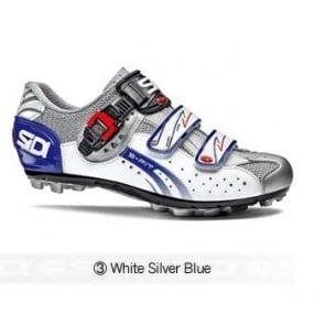 Sidi Eagle5 Fit MTB cycling shoes White Silver Blue