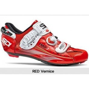 SIDI Ergo3 Carbon Road Bike Shoes Red Vernice