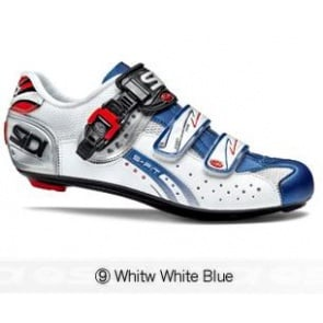 Sidi Genius5 Fit Road Bike Cycling Shoes White White Blue