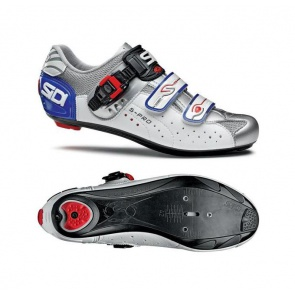 Sidi Genius5 Pro Road Bike Shoes white silver blue