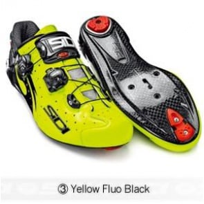 Sidi Wire Carbon Road Bike Shoes Cycling Yellow Fluo Black
