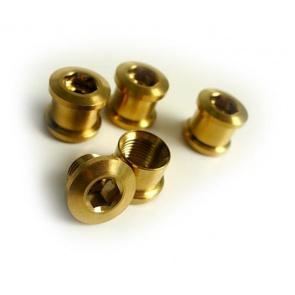 Tiparts Titanium Chainring bolt nut gold 8pc