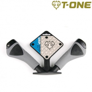 T-one commander cycling lock on grips gp04 black gray