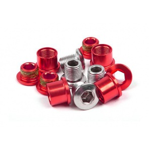 Truvativ 4arm 3 speed Crankset Chainring bolts Red