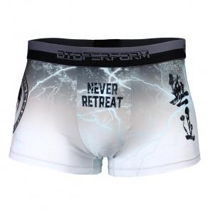 Btoperform Underwear Printed Box Underpants UB-303W NO RETREAT-White