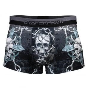Btoperform Underwear Printed Box Underpants UB-306 SKULL CROSS