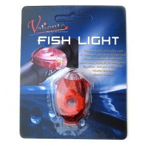 Valiente Fish Light Red LED Bicycle Rear Safety Lamp