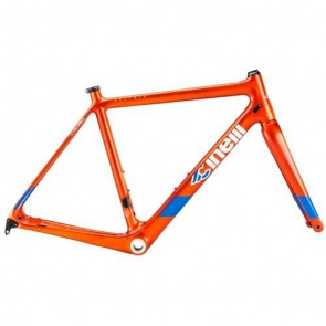 Cinelli Veltrix Disc Frameset Blue Burns Orange