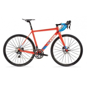 Cinelli Veltrix Disc Bike Blue Burns Orange
