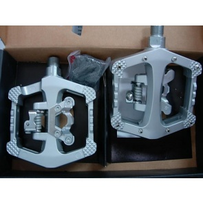 Wellgo Cleat Flat Bicycle Pedals WAM-D10 Silver