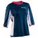 Race Face Khyber Women Jersey 3-4 Sleeve Navy-Flame