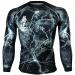 Btoperform No Retreat Thunder Black Full Graphic Compression Long Sleeve Shirts FX-103K