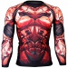 Btoperform Dark Knight - Crimson Full Graphic Compression Long Sleeve Shirts FX-135C
